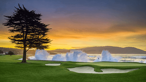 The Pebble Beach golf tournament - Senior Golfers of America